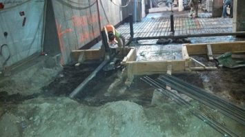 contracting, underground plumbing