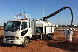 hydro excavator truck, excavation work