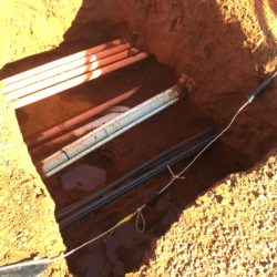 hydro excavation of pipes