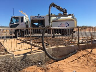 hydro excavation truck, excavation